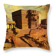 Makli Hill Throw Pillow