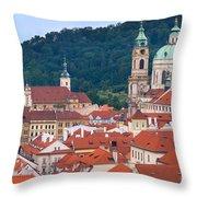 Mala Strana In Prague  Throw Pillow