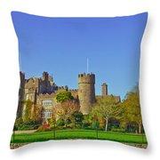 Malahide Castle  Throw Pillow