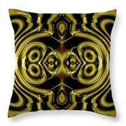Mambo In Gold And Red Throw Pillow