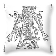 Man Of Signs, 1495 Throw Pillow