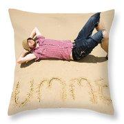 Man Of Summer Throw Pillow