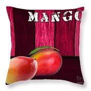 Mango Farm Sign Throw Pillow