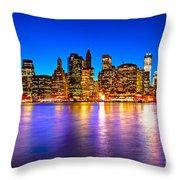 Manhattan - New York City Throw Pillow