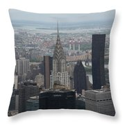 Manhattan From The Empire State Building Throw Pillow