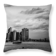 Manhattan Skyline Right Triptych Throw Pillow
