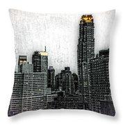 Manhattan View Throw Pillow
