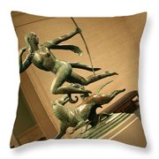 Manship's Diana And A Hound Throw Pillow