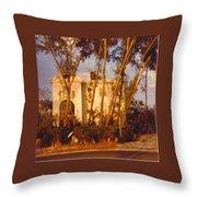 Mansion Landscape Throw Pillow