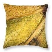Maple Leaf Detail Throw Pillow