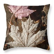 Maple Leaves In Water Throw Pillow