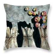 Marble Bags Throw Pillow