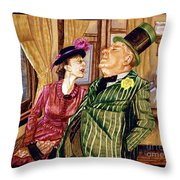 Margaret And W.c. Fields Throw Pillow