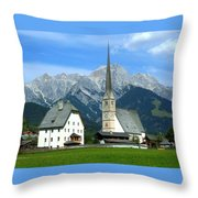 Maria Alm Throw Pillow