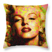 Marilyn Monroe - Maple Leaves Throw Pillow