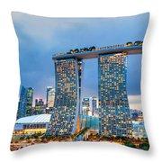 Marina  Bay Sands - Singapore Throw Pillow