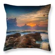 Marineland Beach Sunrise Throw Pillow
