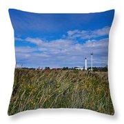 Marjaniemi Lighthouse Throw Pillow