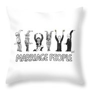 Marriage People Throw Pillow