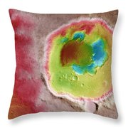 Mars Rabe Crater Throw Pillow