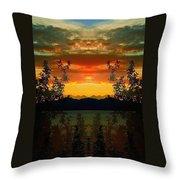 Marsh Lake - Yukon Throw Pillow