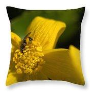 Marsh Marigold Throw Pillow