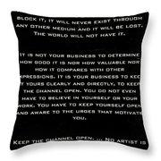 Martha Graham Throw Pillow