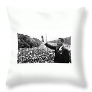 Martin Luther King The Great March On Washington Lincoln Memorial August 28 1963-2014 Throw Pillow