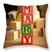 Mary - Alphabet Blocks Throw Pillow