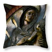 Mary And Jesus Throw Pillow