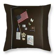 Mary Ann Guss' Patriotic Door Baldwin City Kansas 2002 Throw Pillow
