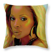 Mary J Blige Throw Pillow