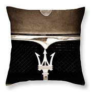 Maserati Hood - Grille Emblems Throw Pillow