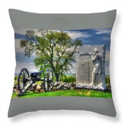 Massachusetts At Gettysburg - 1st Andrews Sharpshooters Unattached Mass. Vol. Infantry Hancock Ave Throw Pillow
