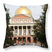 Massachusetts State House - Boston  Throw Pillow