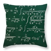 Mathematics Throw Pillow
