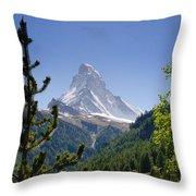 Matterhorn In Zermatt Throw Pillow