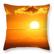 Maui Kulamalu Sunset  Throw Pillow