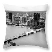 Maumee River Toledo Ohio Throw Pillow