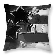 Max Americana In Black And White Throw Pillow