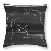 Max Woman In Negative Throw Pillow