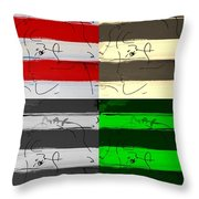 Max Woman In Quad Colors Throw Pillow