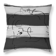 Max Women In Black And White Throw Pillow
