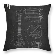 Mccarty Gibson Stringed Instrument Patent Drawing From 1969 - Dark Throw Pillow
