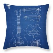 Mccarty Gibson Stringed Instrument Patent Drawing From 1969 - Bl Throw Pillow
