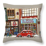 Mcleans Irish Pub Montreal Throw Pillow