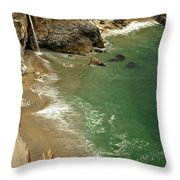 Mcway Falls Throw Pillow by Adam Jewell