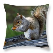 Meals On Rails Throw Pillow
