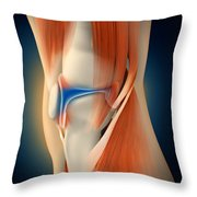 Medical Illustration Showing Throw Pillow