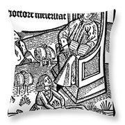 Medical Teaching, 1487 Throw Pillow